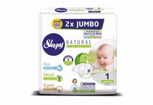 sleepy natural 2019 2 li jumbo Baglamali Bebek bezleri ( newborn ) ingilizce